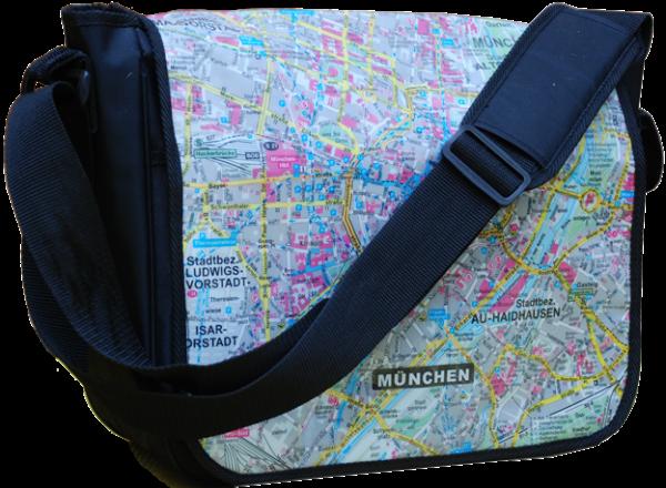 Tasche und Stadtplan von München in Einem