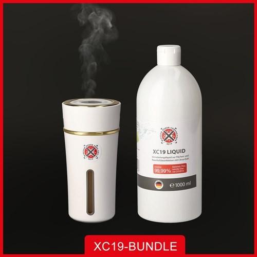 XC19 Paket XC19 Liquid 1L + XC19 Vernebler XS 300ml Weiß