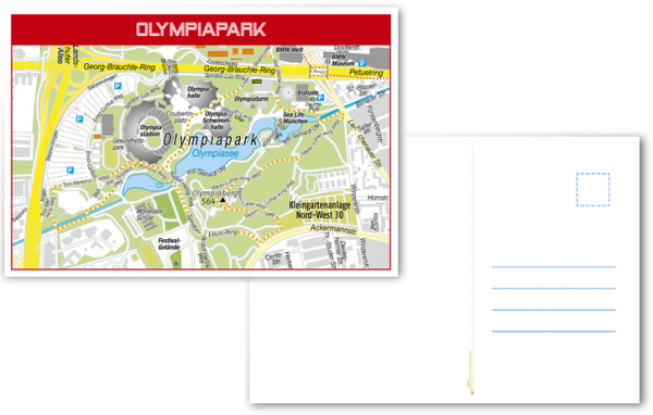 Postkarte-Olympiapark-München