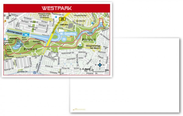 Westpark München - Postkarte blanko