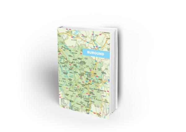 Umschlagseite von Burgund im klassischen Kartographie-Design