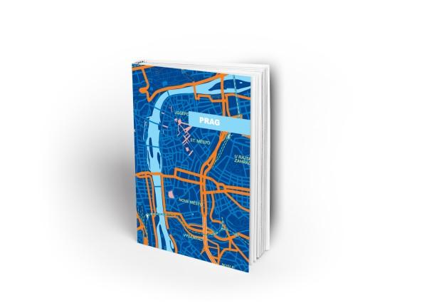 Notizbuch Prag blau