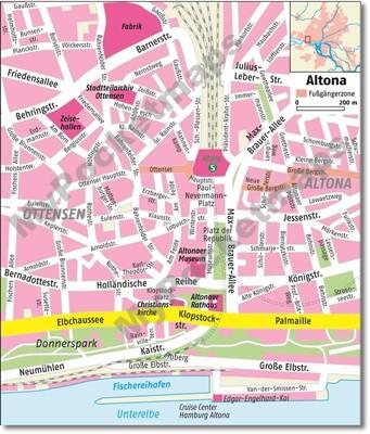 Hamburg-Altona | Stadtplanausschnitt