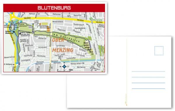 Blutenburg Postkartenvorder- und rückansicht - Vorschaubild