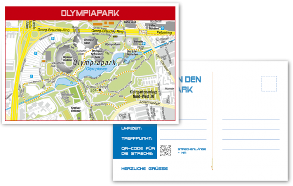 Einladungs-Postkarte-Olympiapark-Runde-München