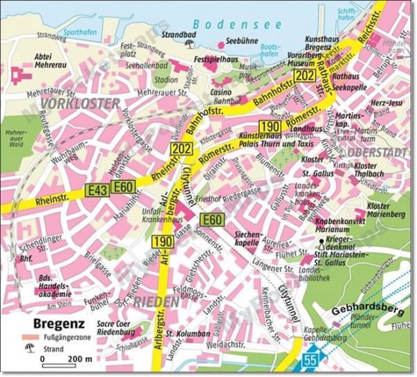 Bregenz - Stadtplan