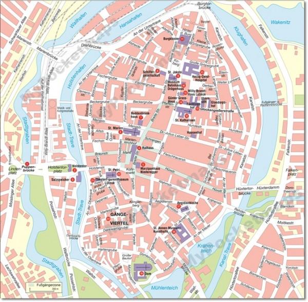 Lübeck Stadtplan