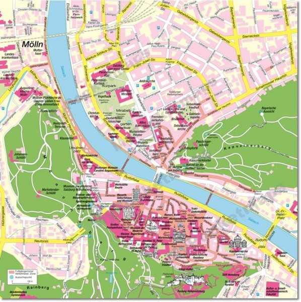 Salzburg Stadtplan - Vorschaubild