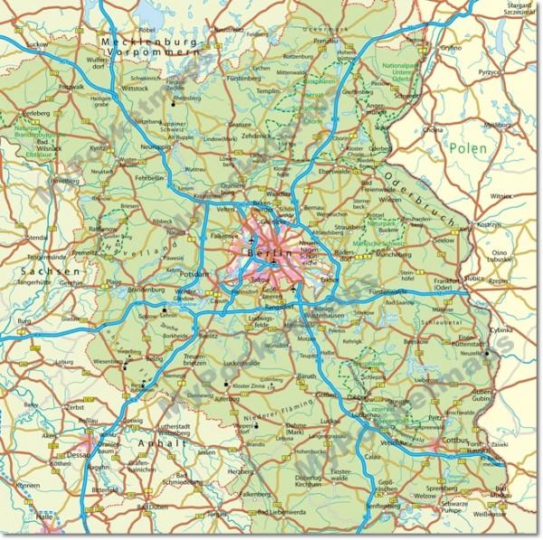 Brandenburg - Regionalkarte