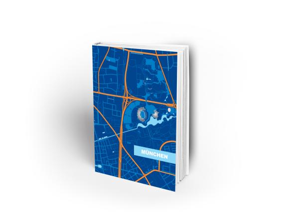 München Softcover-Notizheft Nord blau - DIN A5
