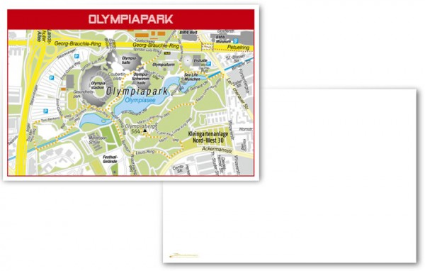 Olympiapark München - Postkarte blanko