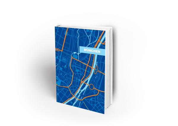 Umschlagseite von München in graphischen Design