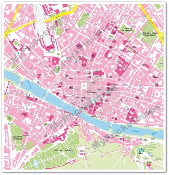 Stadtplan - Florenz