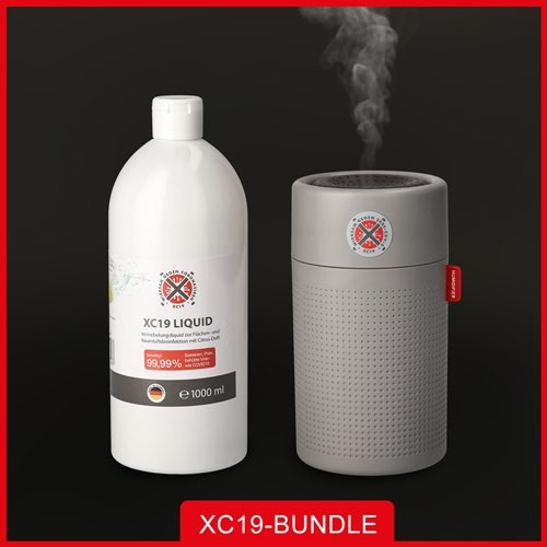 XC19 Paket XC19 Liquid 1L + XC19 Vernebler XM 750ml Grau