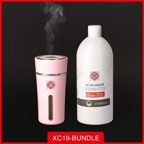 XC19 Paket XC19 Liquid 1L + XC19 Vernebler XS 300ml Rosa