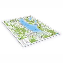 Block mit Karte rund um den Ammersee