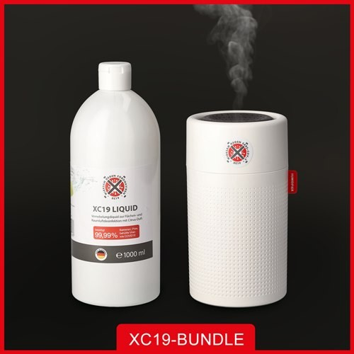 XC19 Paket XC19 Liquid 1L + XC19 Vernebler XM 750ml Weiß