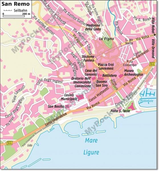 San Remo - Stadtplan