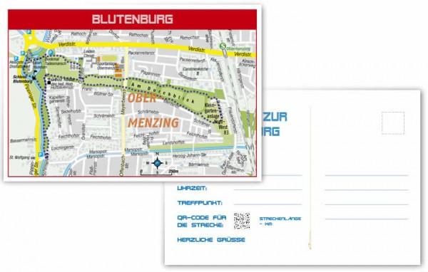 Blutenburg-Route in München - Postkarte