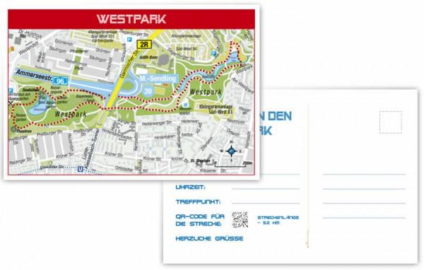 Westpark - Vorderseite, Rückseite, Postkarte, Vorschaubild